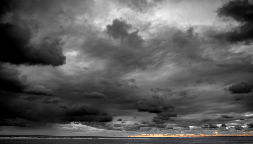 Sea, Clouds, Atmospheric, Sunset, Beach, Storm Clouds
