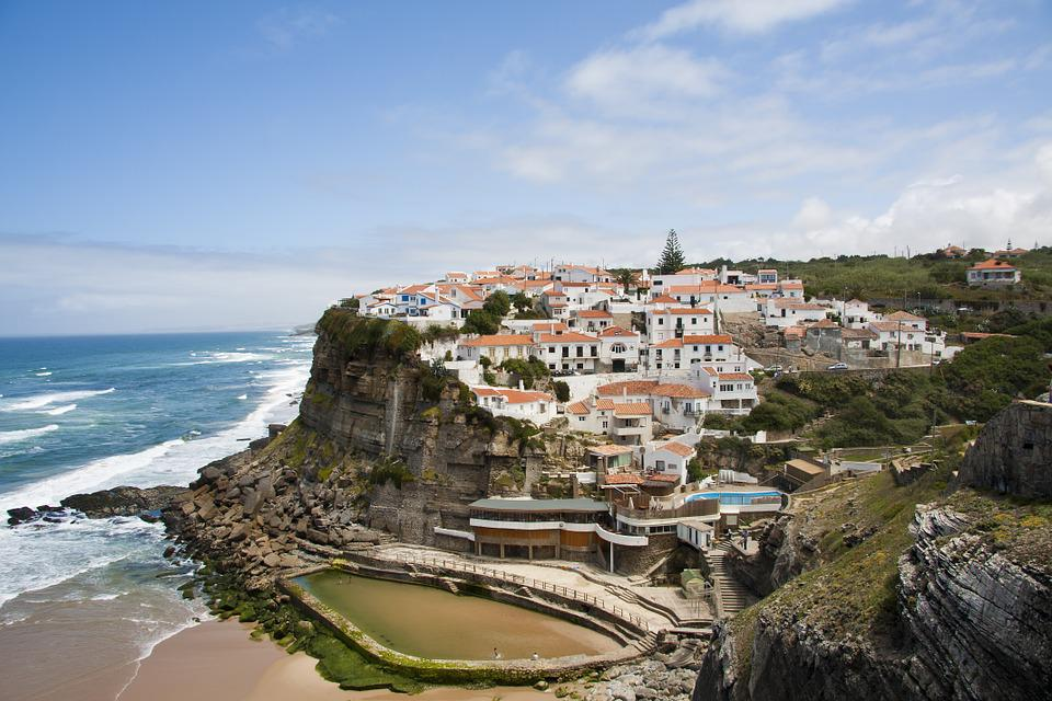 Azenhas Do Mar, Portugal, Beach, Pool, Sea, Costa
