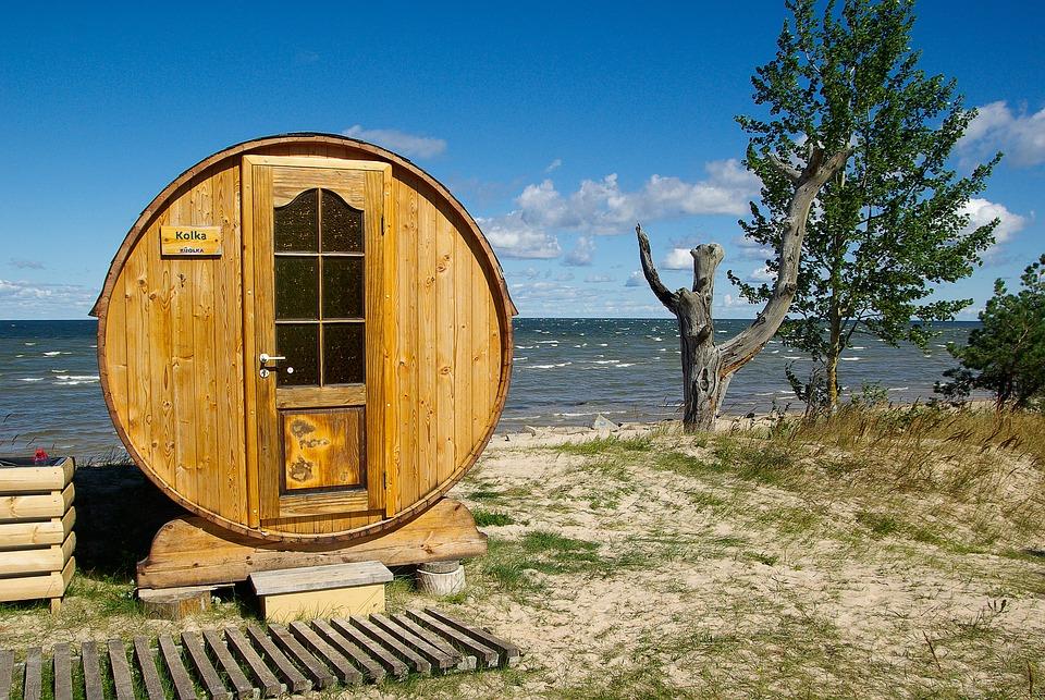 Baltic, Latvia, Cape Kolka, Sauna, Beach