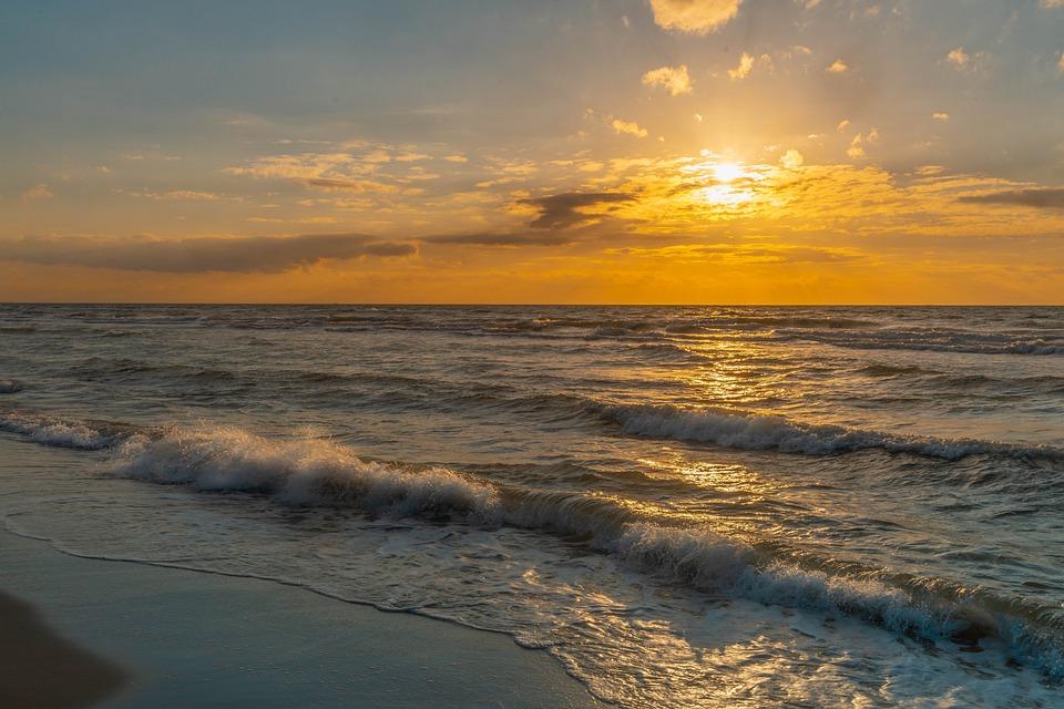 West Beach, Baltic Sea, Beach, Clouds, Ahrenshoop, Darß