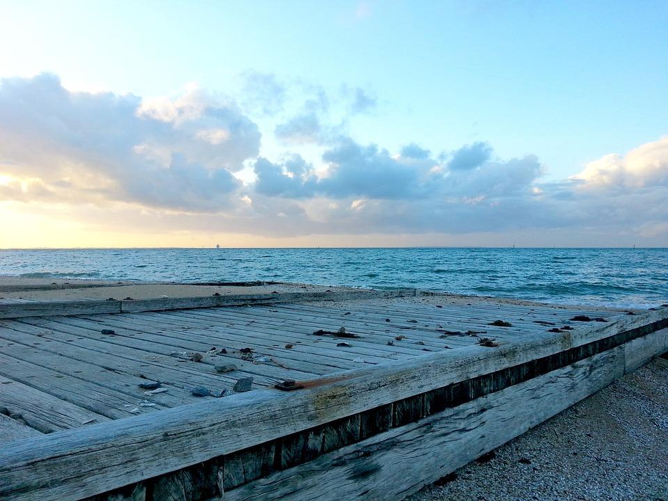 Pier, Boat Ramp, Dromana, Beach, Sea, Blue, Bay