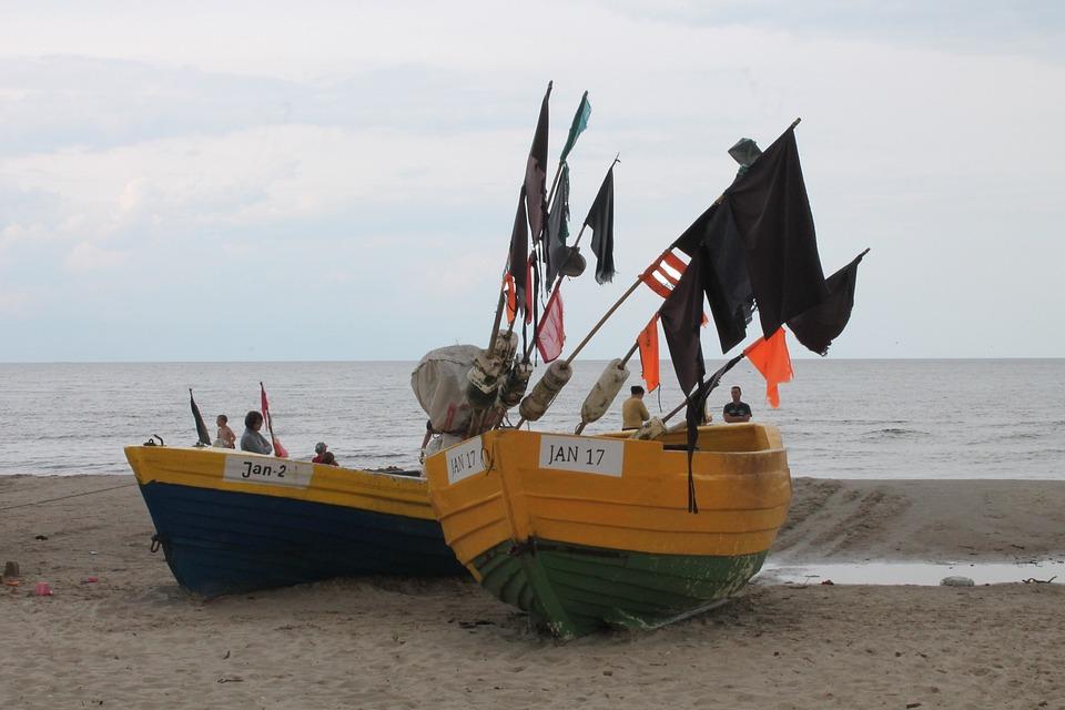 The Baltic Sea, Sea, Boat, Beach, Sand