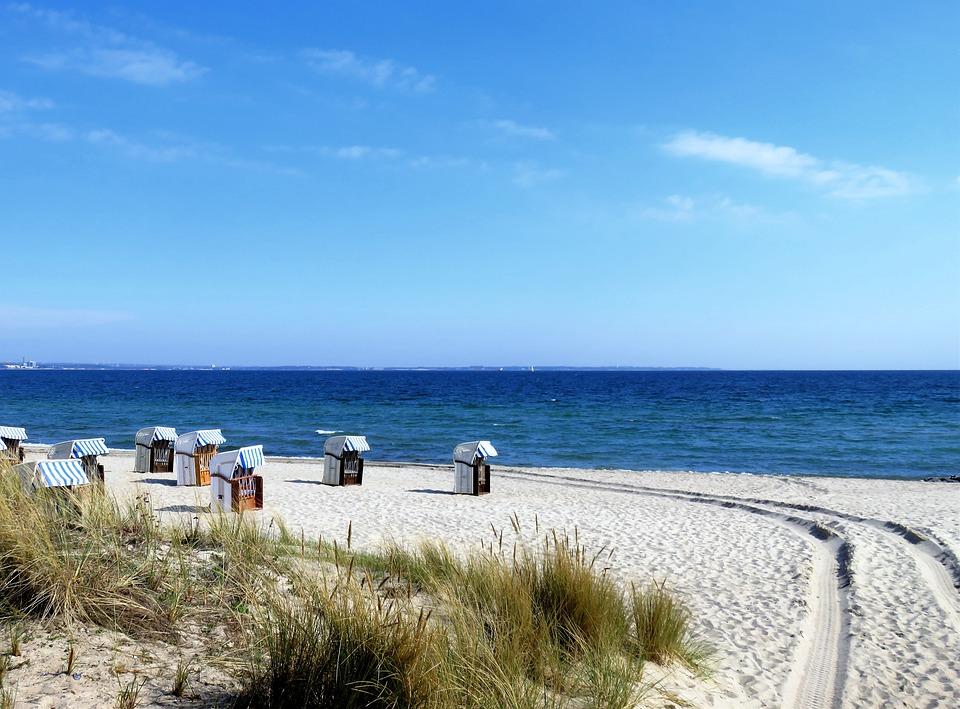 Beach, Cabins, Coast, Sand, Seashore, Coastline, Sea