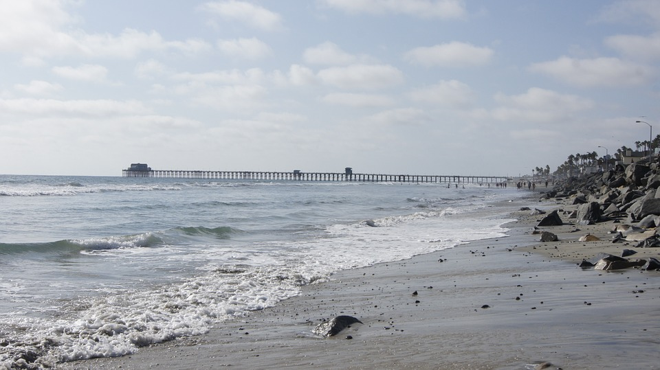 California, Beach, Ocean, The Pier