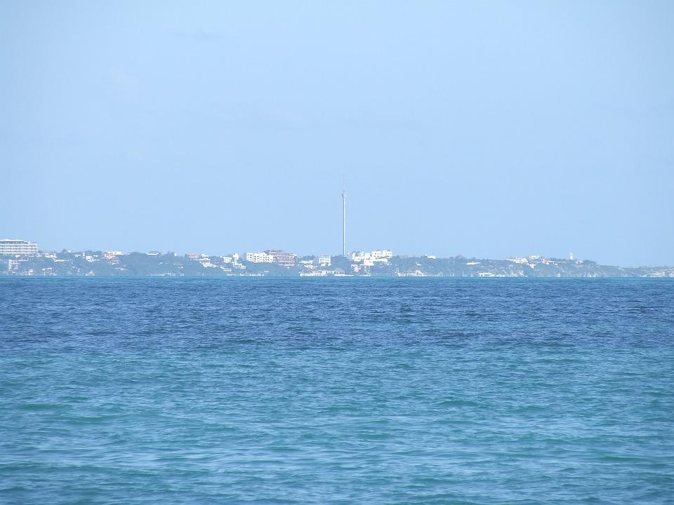 Island Women, Sea, Cancun, Beach, Holiday, Turquoise