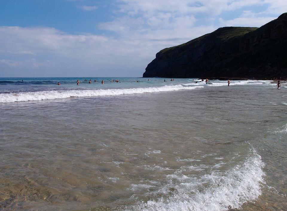 Beach, Cantabria, Sun