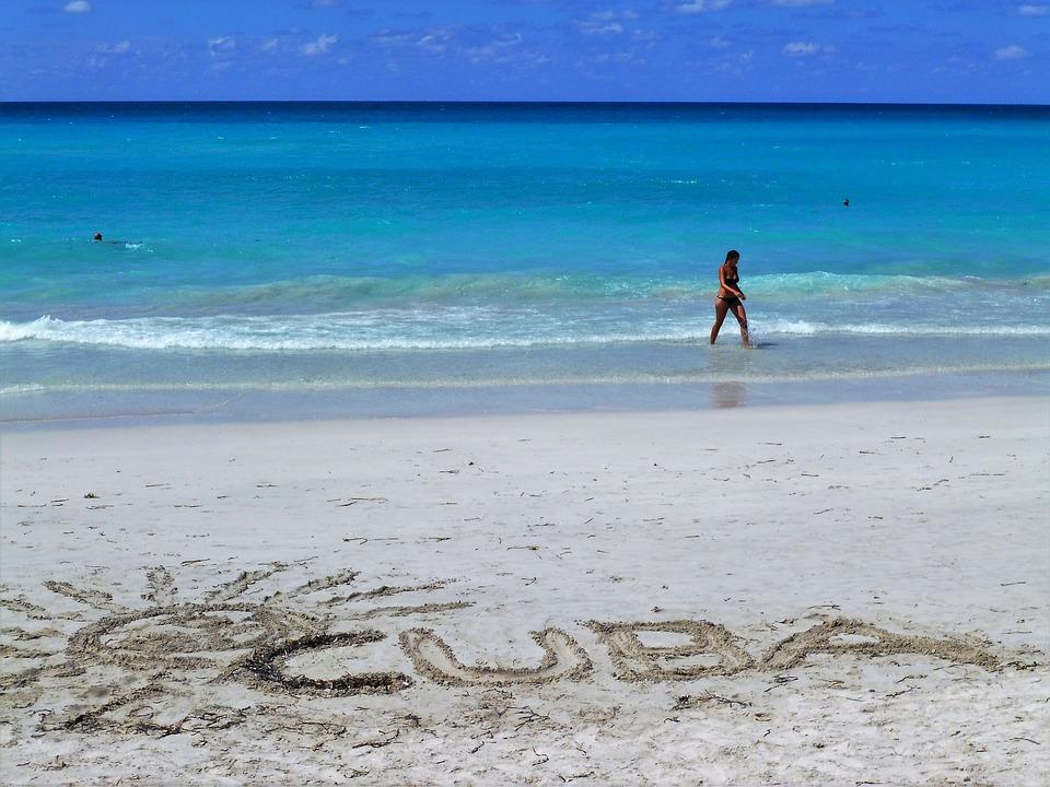 Cuba, Beach, Sea, Sand Beach, Holiday, Caribbean