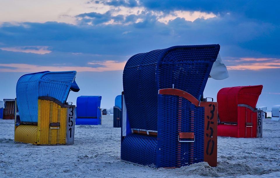 Beach, Beach Chair, Sea, North Sea, Holiday, Sand
