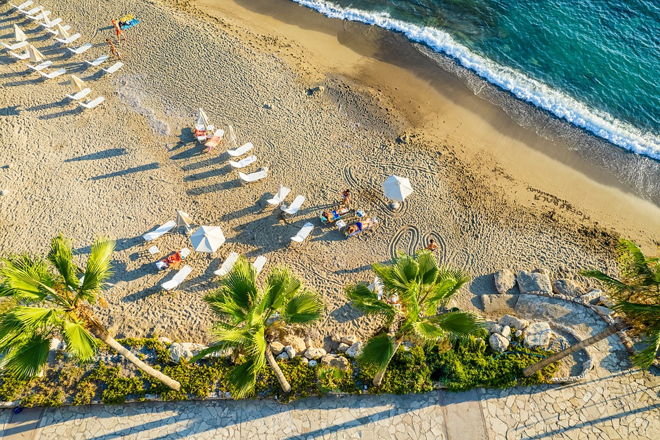 Beach, Sea, Vacation, Sunbeds, Beach Chairs, Palms
