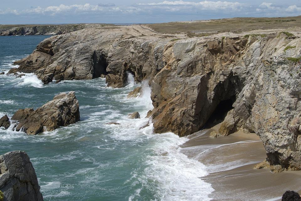 Brittany, France, Cliffs, Rocks, Beach, Ballad, Holiday