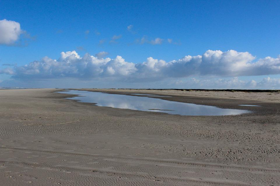 Schiermonnikoog, Beach, Clouds, Sea, Island, Wadden