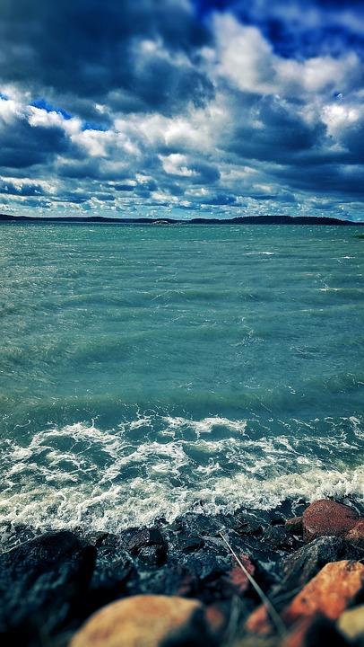 Beach, Sky, Water, Finnish, Sea, Summer, Blue, Clouds