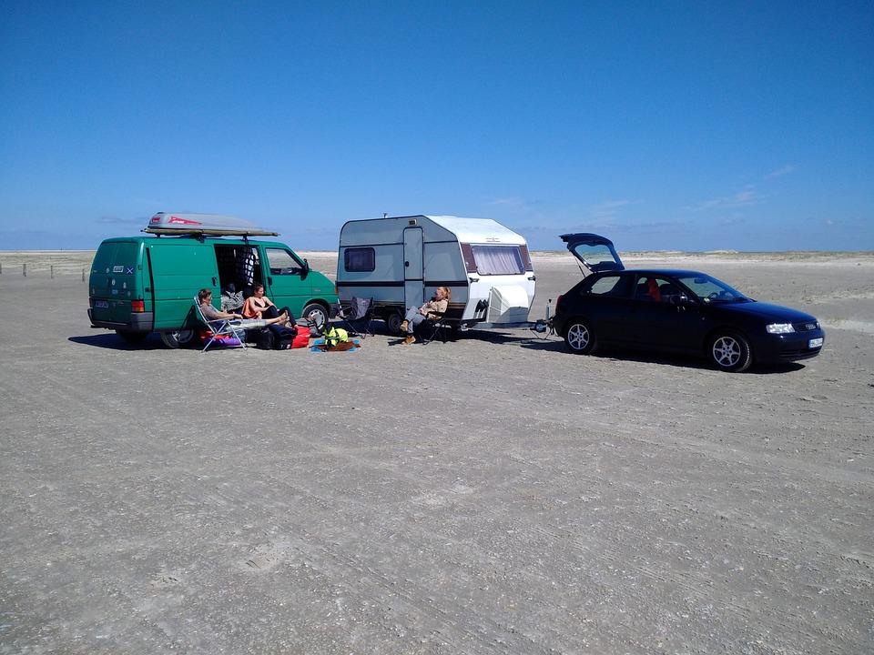 Beach, Camping, Vacations, Sky, Coast, Landscape