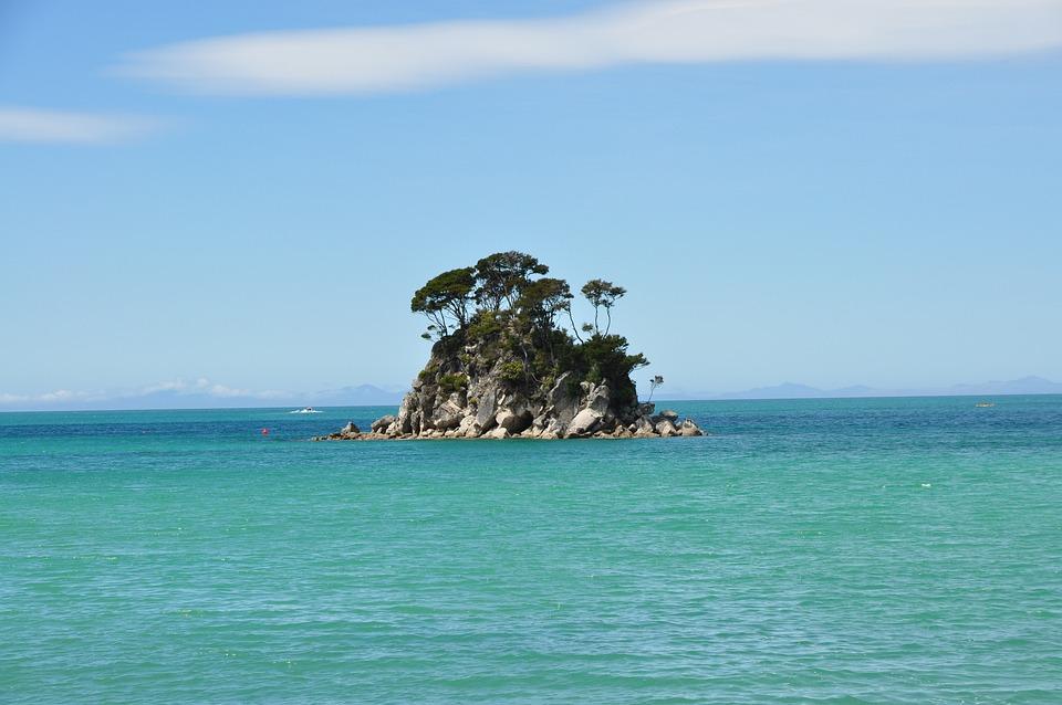 Abel Tasman Park, New Zealand, Beach, Sea, Coast, Rock