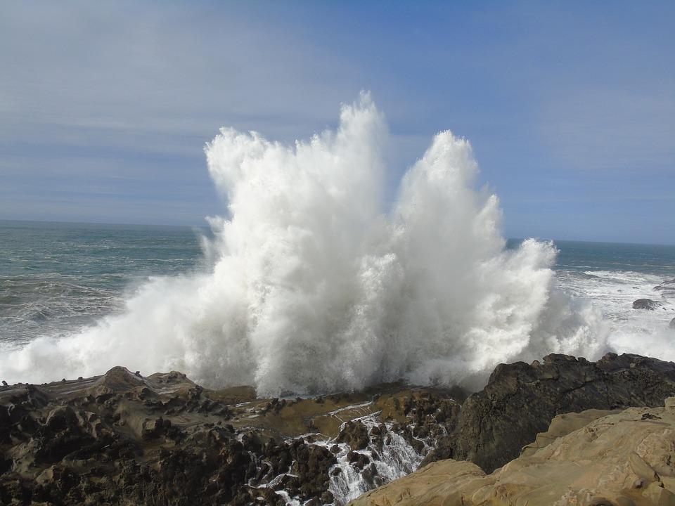 Coast, Wave, Water, Rock, Sea, Ocean, Beach, Nature