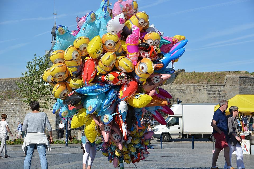 Balloons, Children, Colors, Beach, Gift, Games