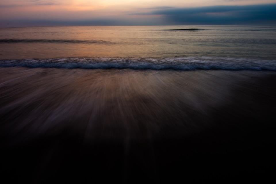 Beach, Waves, Water, Sunrise, Corolla, Outer Banks