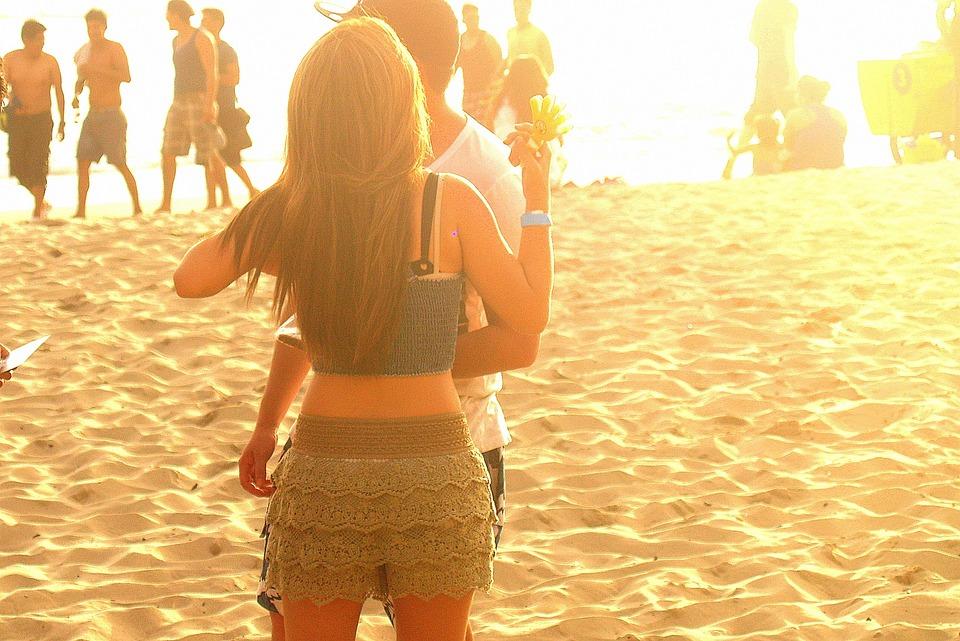 Beach, Couple, Romance, Sand, Ecuador, Montanita, Ocean