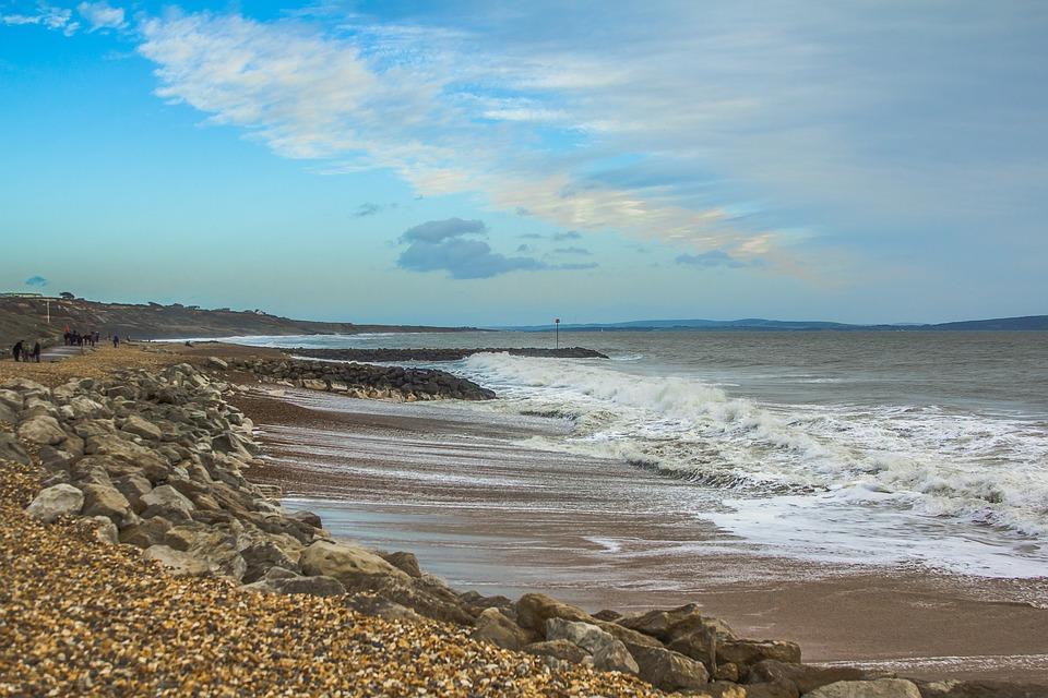 England, Dorset, Seascape, Beach, Waves