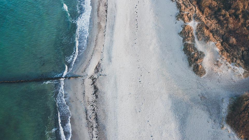 Beach, Drone Image, Aerial View, Drone, Coast, Germany