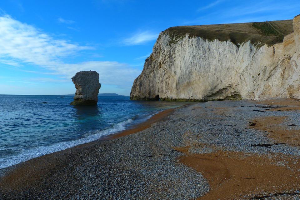 Landscape, Dorset, Durdle Door, Beach, Chalk Stack