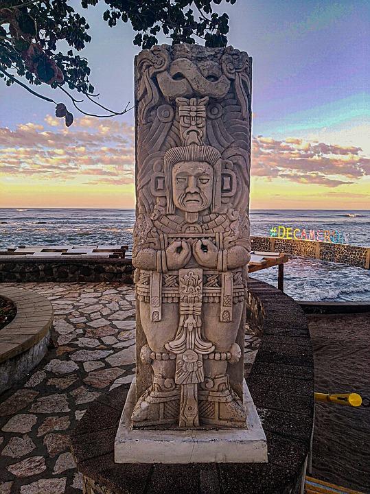 Ruins, El Salvador, Beach, Sunset, Holiday, Ocean