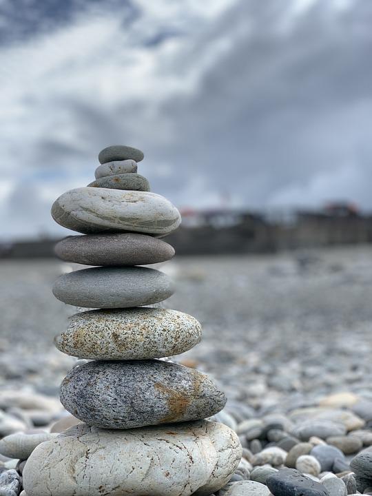 Stone Tower, Cobblestone, Stone, Beach, Faith, Mystery