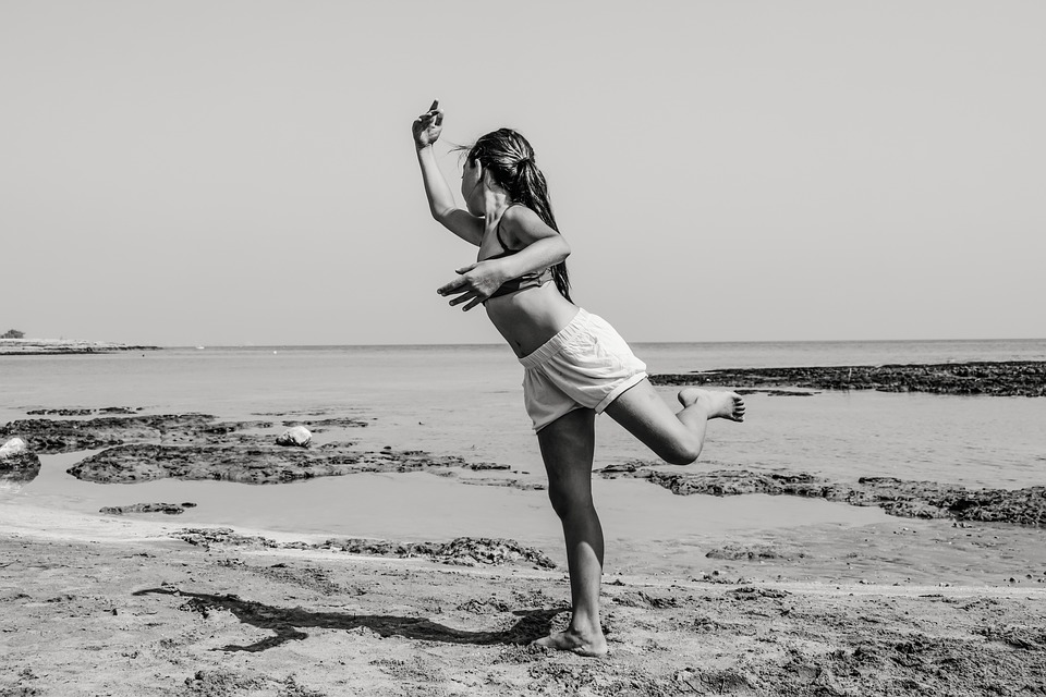 Girl, Dancing, Beach, Dance, Young, Female, Elegance
