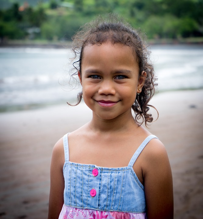 Girl, Portrait, French Polynesia, Beach, Young, Female