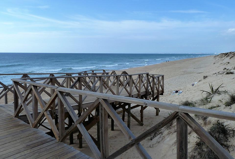 Nature, Beach, Gangway, Algarve, Portugal