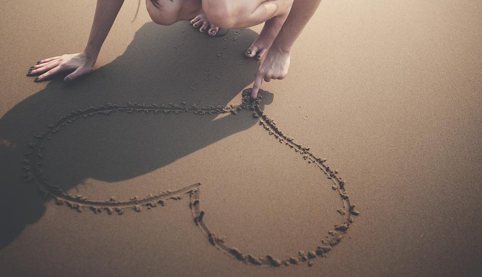 Heart, Beach, Calm, Enjoyment, Happiness, Holiday