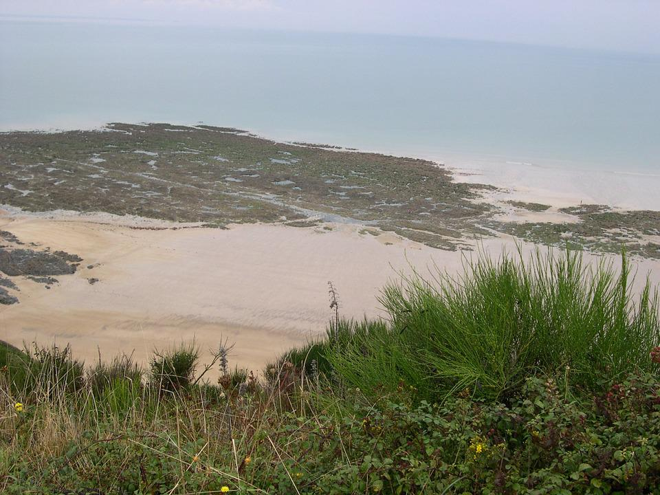 Seascape, View From Top, Holiday, Normandy, Beach, Sea