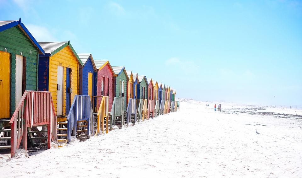 Beach, Colorful, Colourful, Facade, Houses, Hut