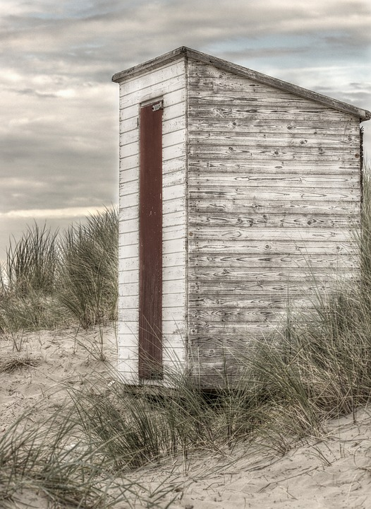 Beach House, Beach, Breskens, Holland, Beach Hut, Coast
