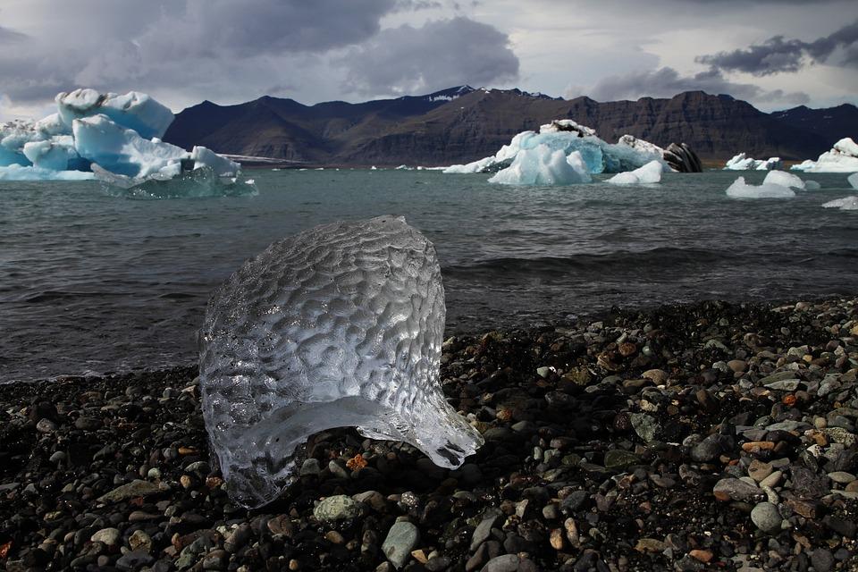 Jökulsárlón, Iceberg, Beach, Iceland, Ice, Texture