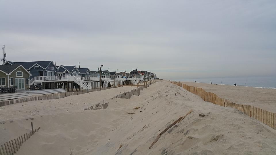 Beach Island, Jersey, Shore, Dune, Coastline, Scenic