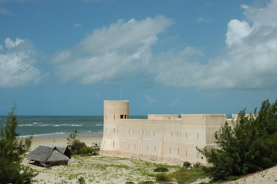 Lamu, Fort, Beach, Sand, Sea, Island, Ocean, Africa