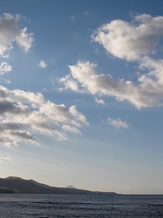 Beach, Sky, Blue, Clouds, Sea, Island, Costa, Sunset