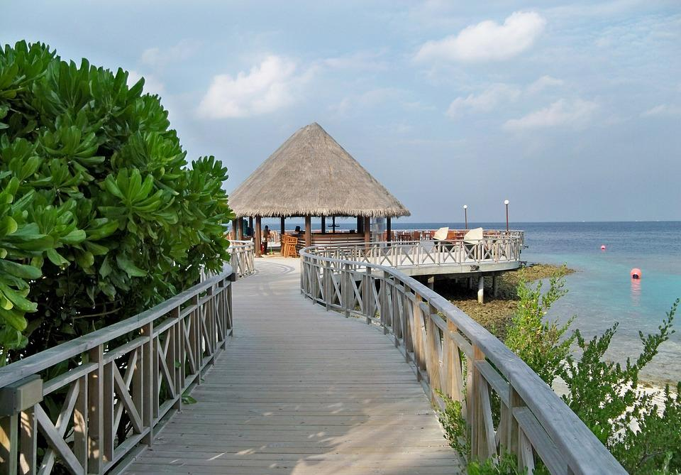 Maldives, Islands, Tropical, Beach, Bar, Restaurant