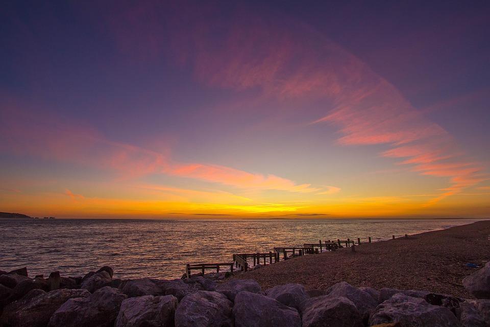 Beach, Ocean, Key Haven, Seascape, Sunset