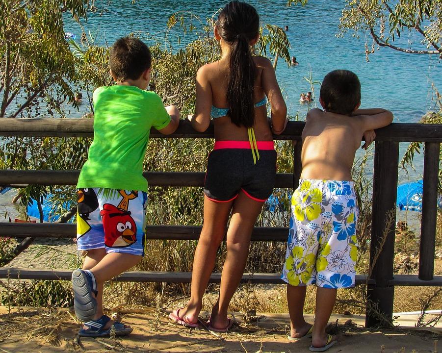 Summer, Kids, Looking, Beach, Vacation, Holiday