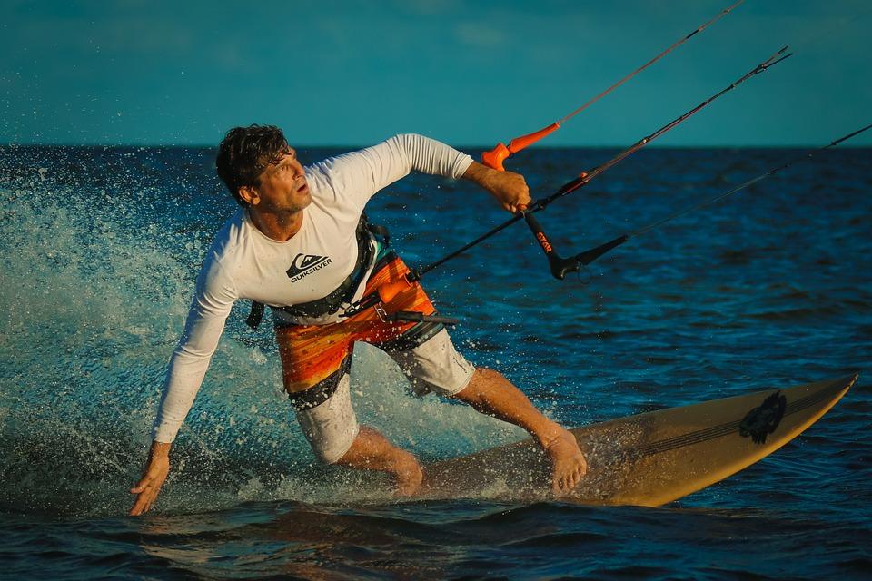 Kitesurfing, Kite Boarding, Beach, Ocean