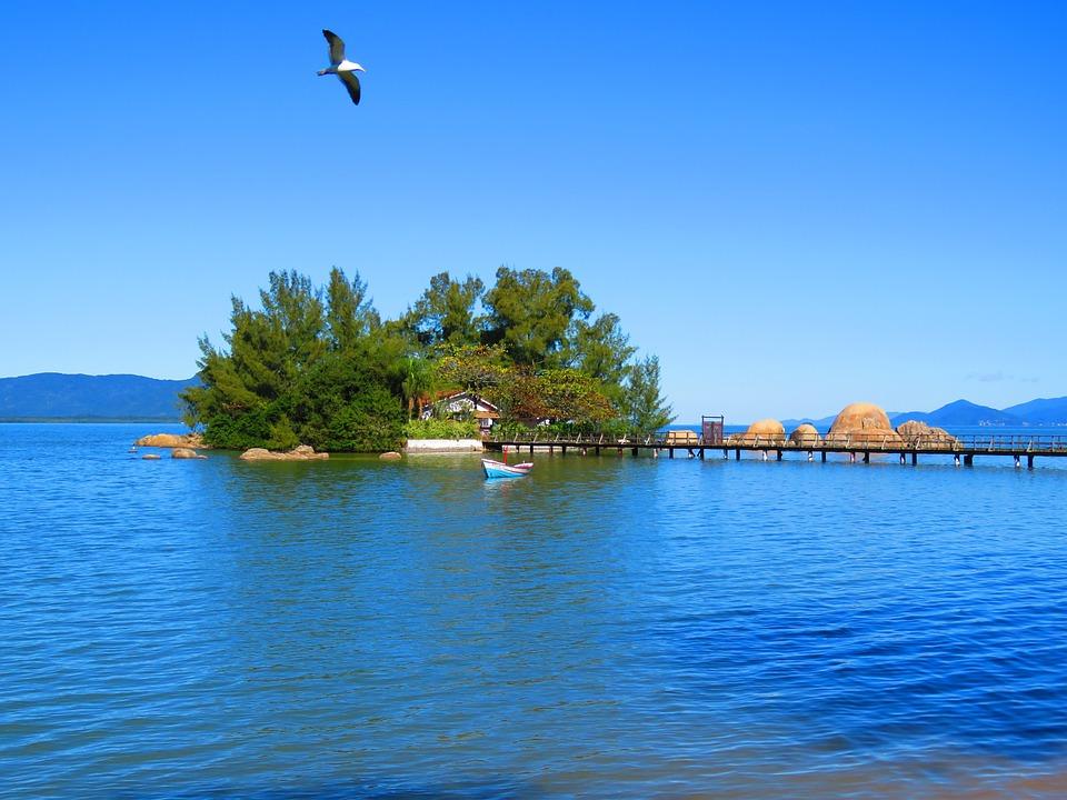 Mar, Landscape, Nature, Beach, Island, Florianópolis
