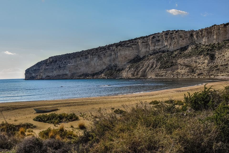 Beach, Cliffs, Sea, Coastline, Landscape, Boat, Scenic