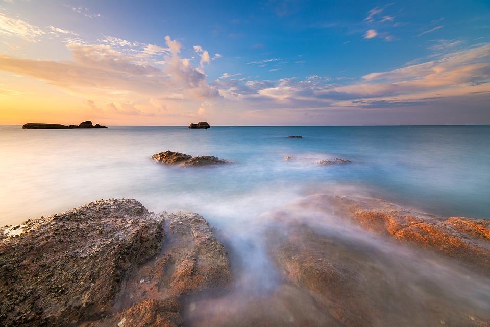 Seascape, Landscape, Beach, Coast, Island, Ocean