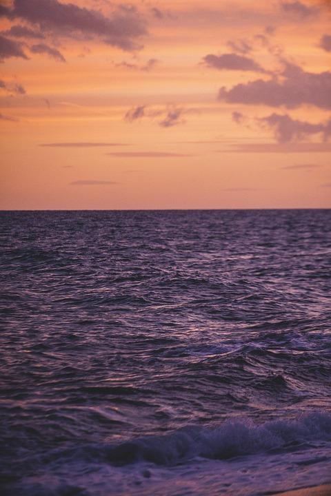 Sea, Sky, Sunset, Landscape, Beach, Costa, Nature