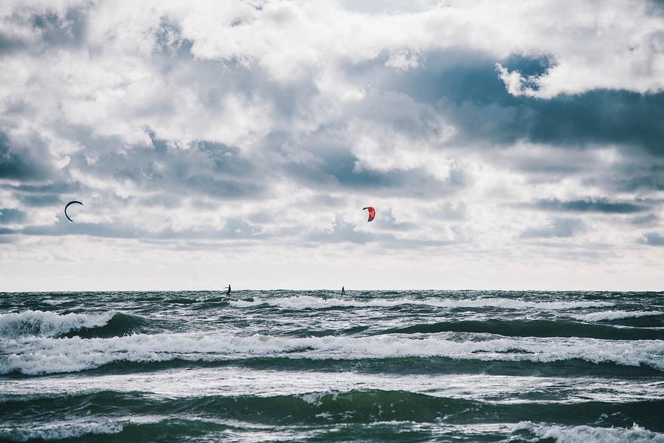 Paragliding, Recreation, Adventure, Leisure, Beach