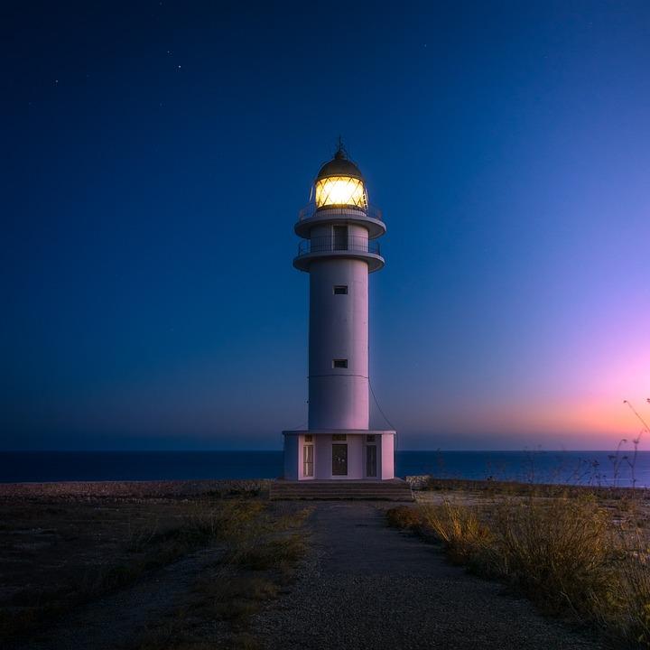 Beach, Cliff, Coast, Light, Lighthouse, Ocean, Sea
