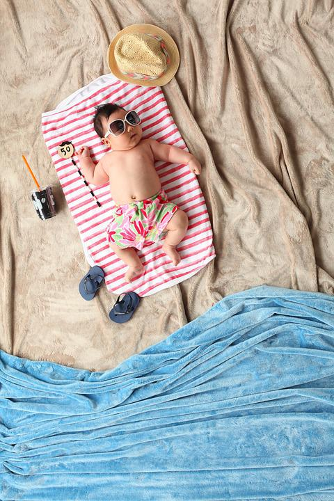 Summer, Baby, Beach, Children, Little, Cute, Kid, Towel