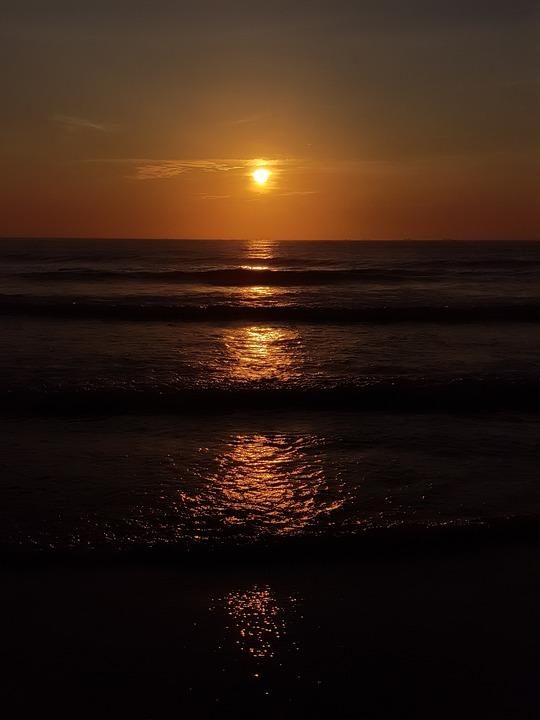 Aurora, Dawn, Beach, 6 A, M, Summer, Landscape